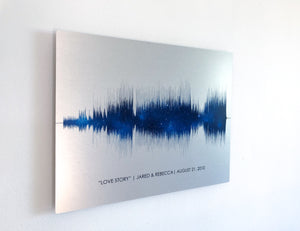 Night Sky Soundwave Art on Metal