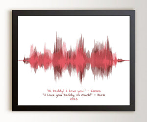 Dad Gift from Kids, Fathers Day Voiceprint Gift