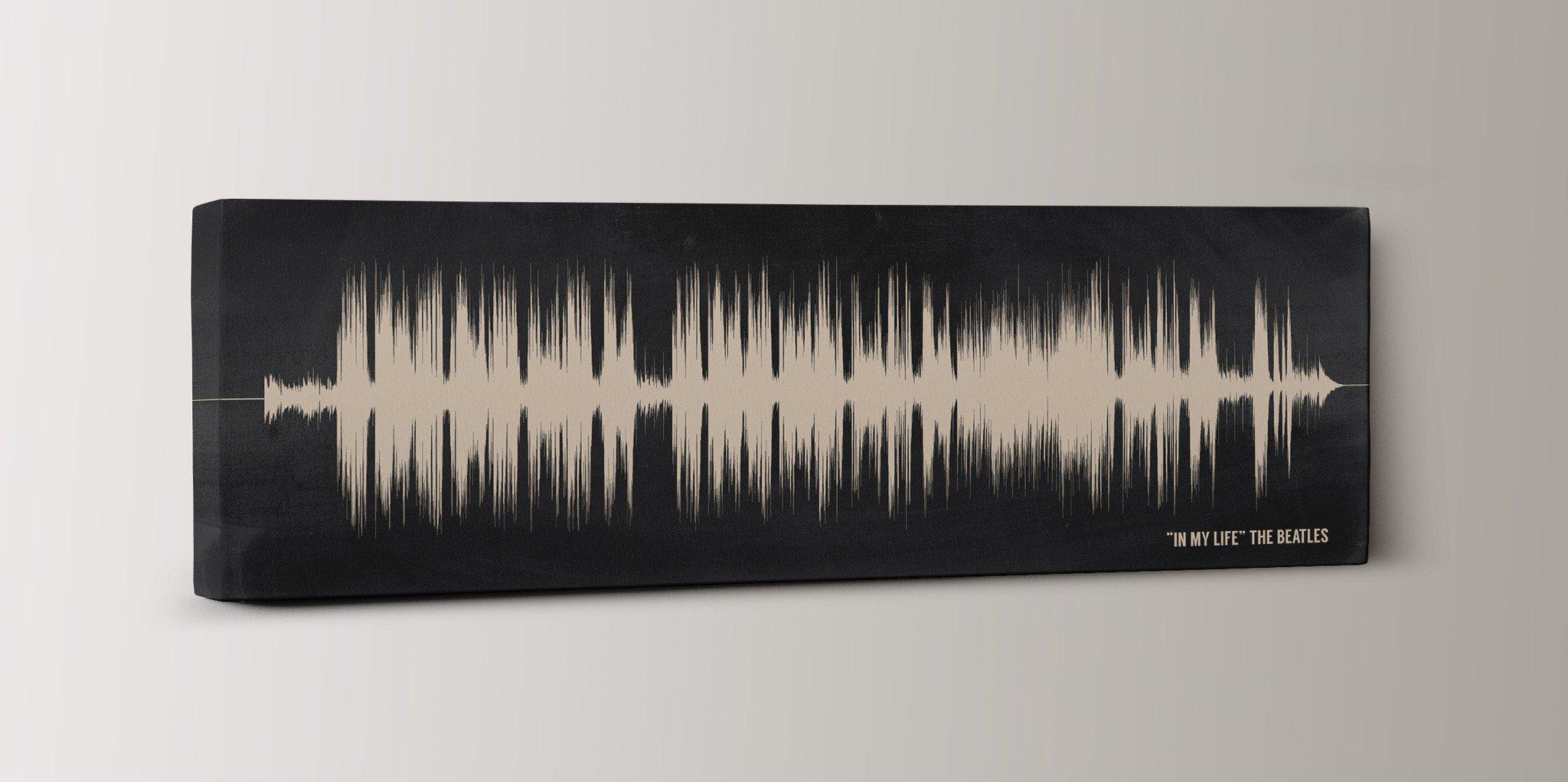 2nd Anniversary Gift, Cotton Canvas - Wedding Song Sound Wave Art - Artsy Voiceprint