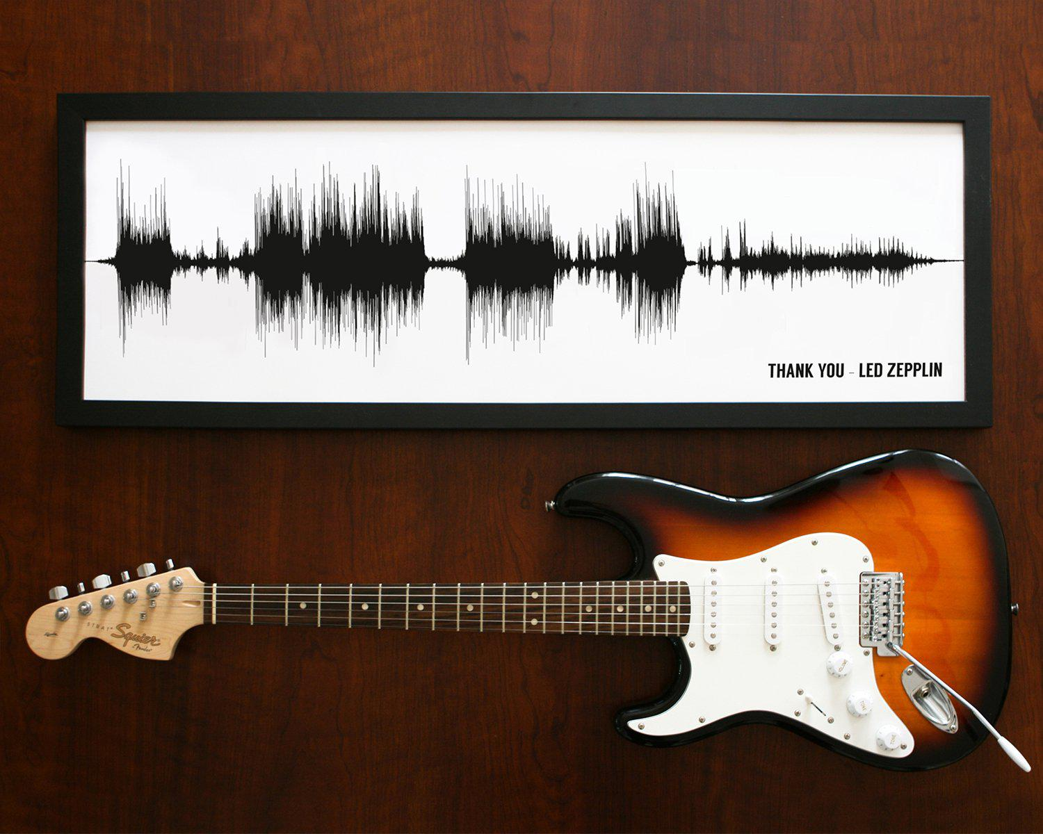 Song Sound Wave Art Framed Musician Gifts - Artsy Voiceprint