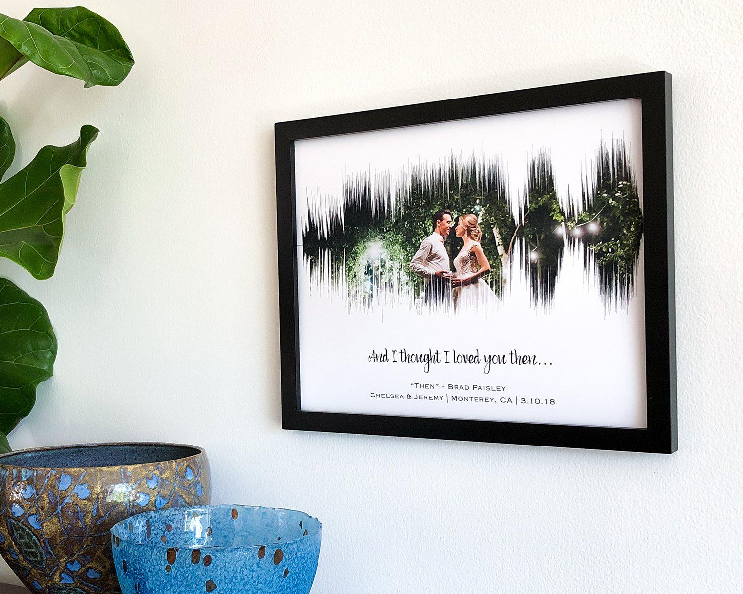 Anniversary Photo and Wedding Song Sound Wave Art - Artsy Voiceprint