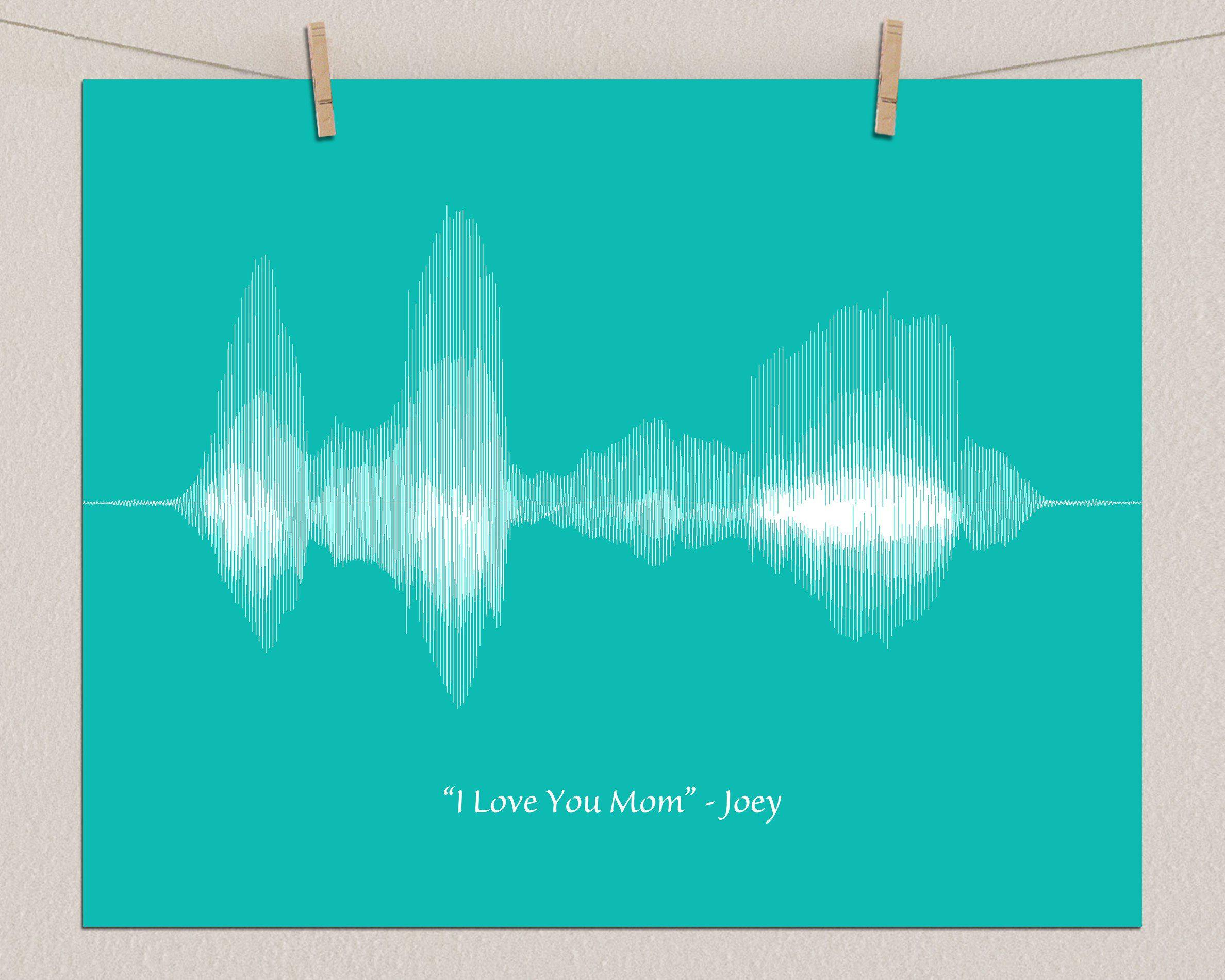 Best Custom Gift for Mom - I love you Voiceprint