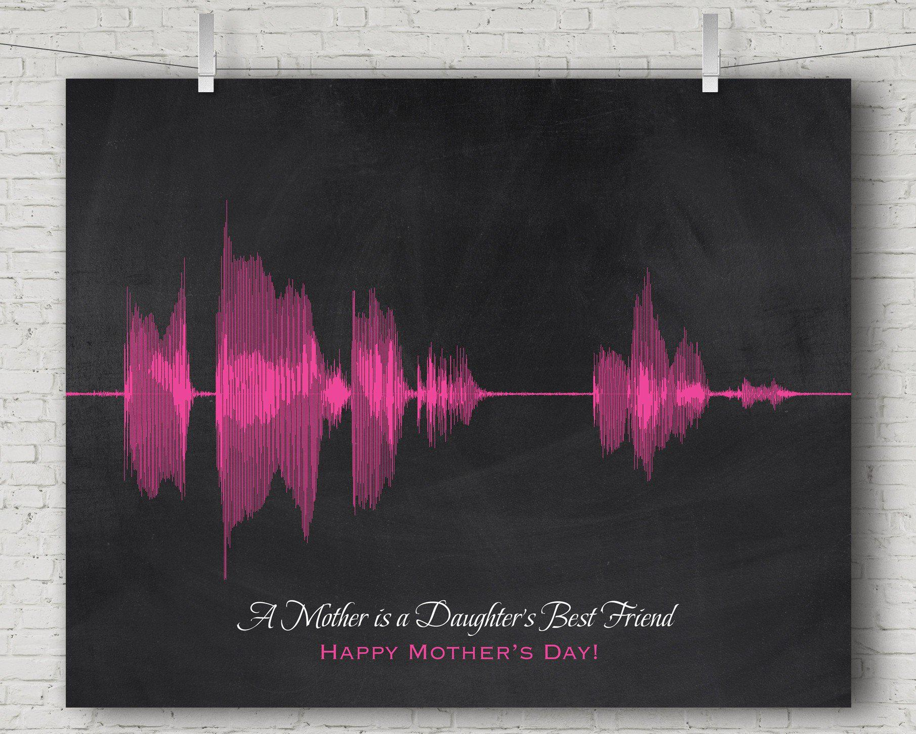 Christmas Gift for Mom from Daughter - Personalized Voice Art