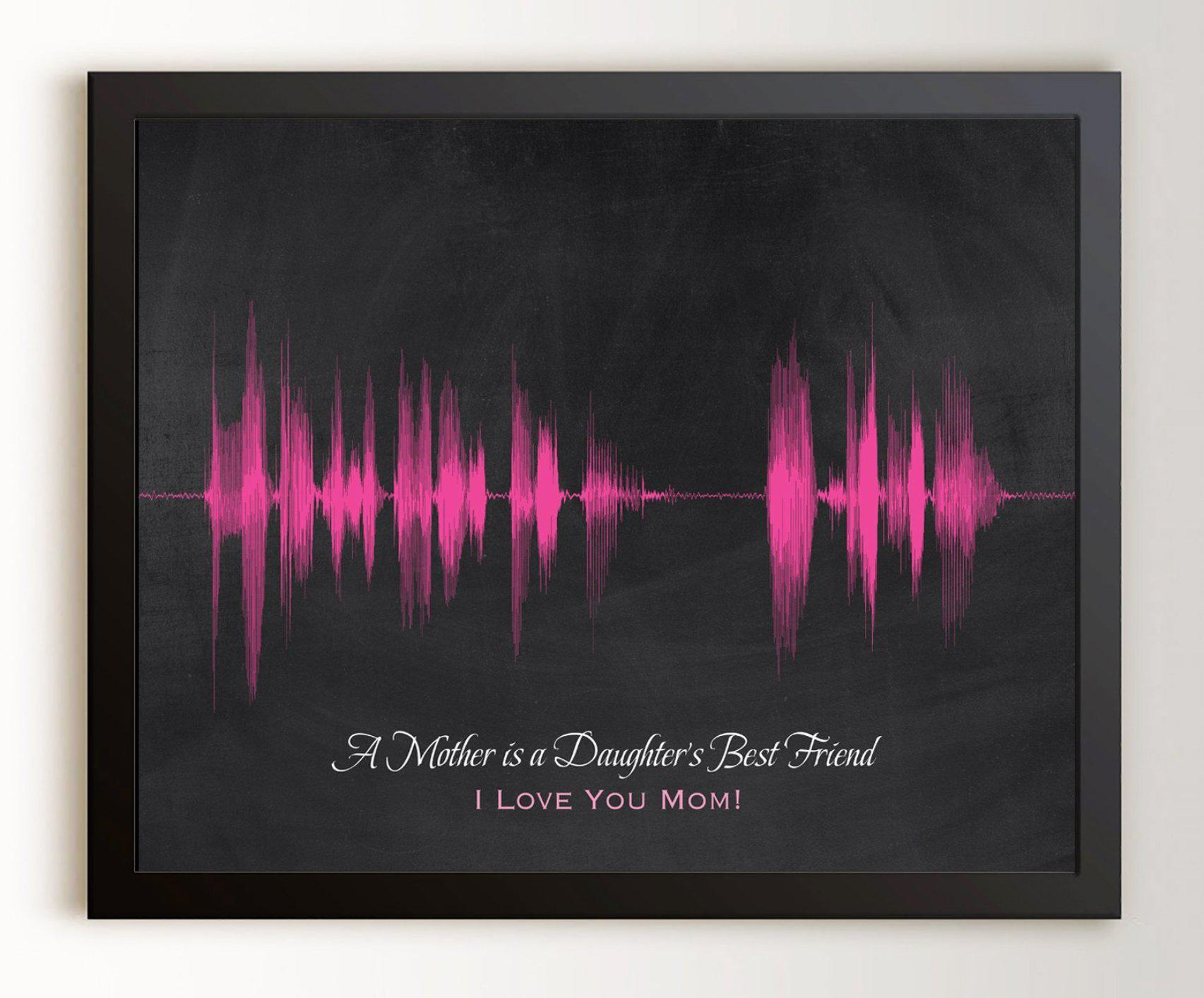 Gift for Mom from Daughter - Personalized Voice Art - Artsy Voiceprint