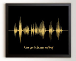 Custom Sound Wave Print - I love you to the moon and back