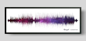 Night Sky Song Sound Wave Print Gift