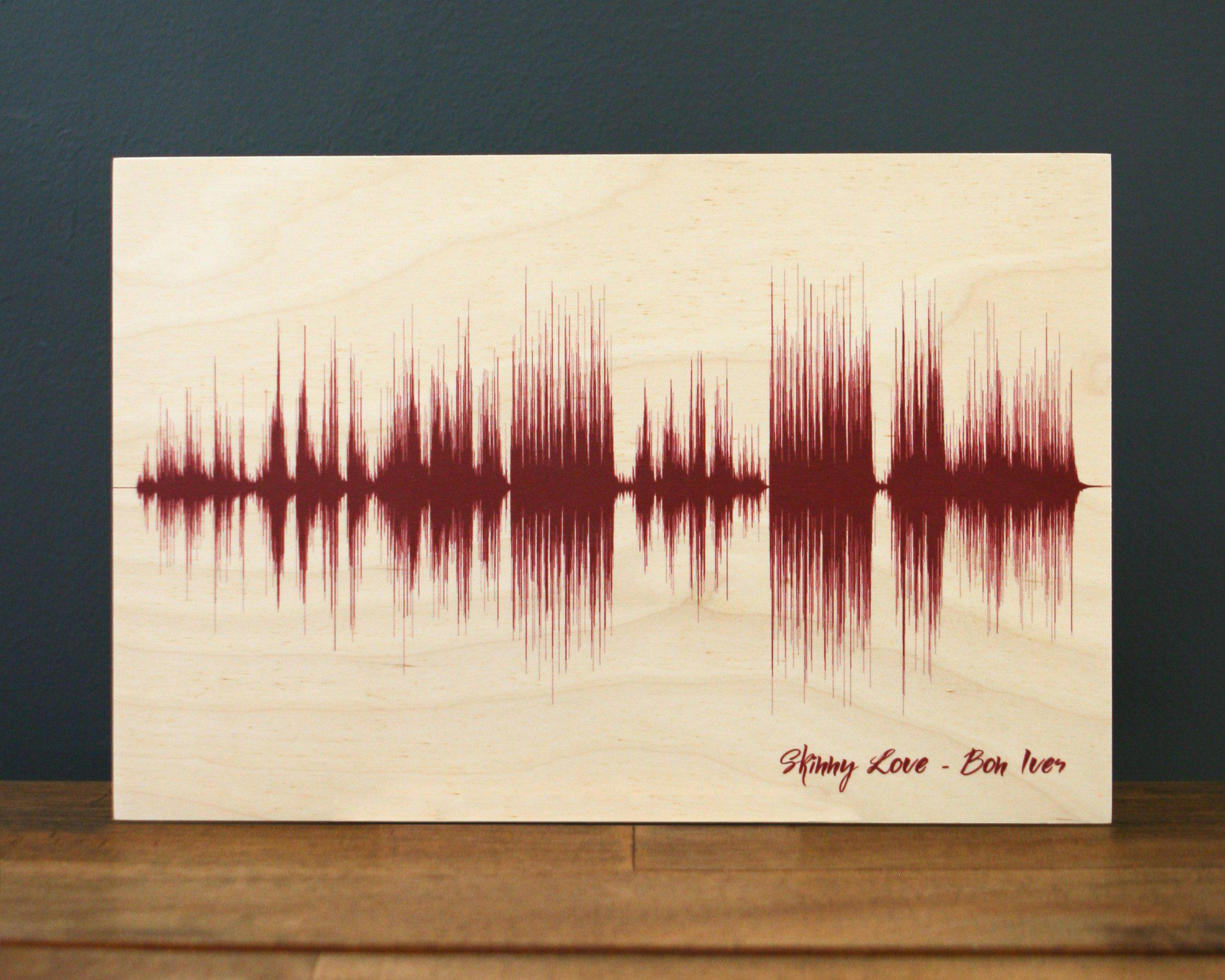 Wood Anniversary Gift, Song Sound Wave, 5th Anniversary Gifts