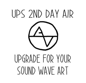 Upgrade Shipping to 2nd Day Air - Artsy Voiceprint