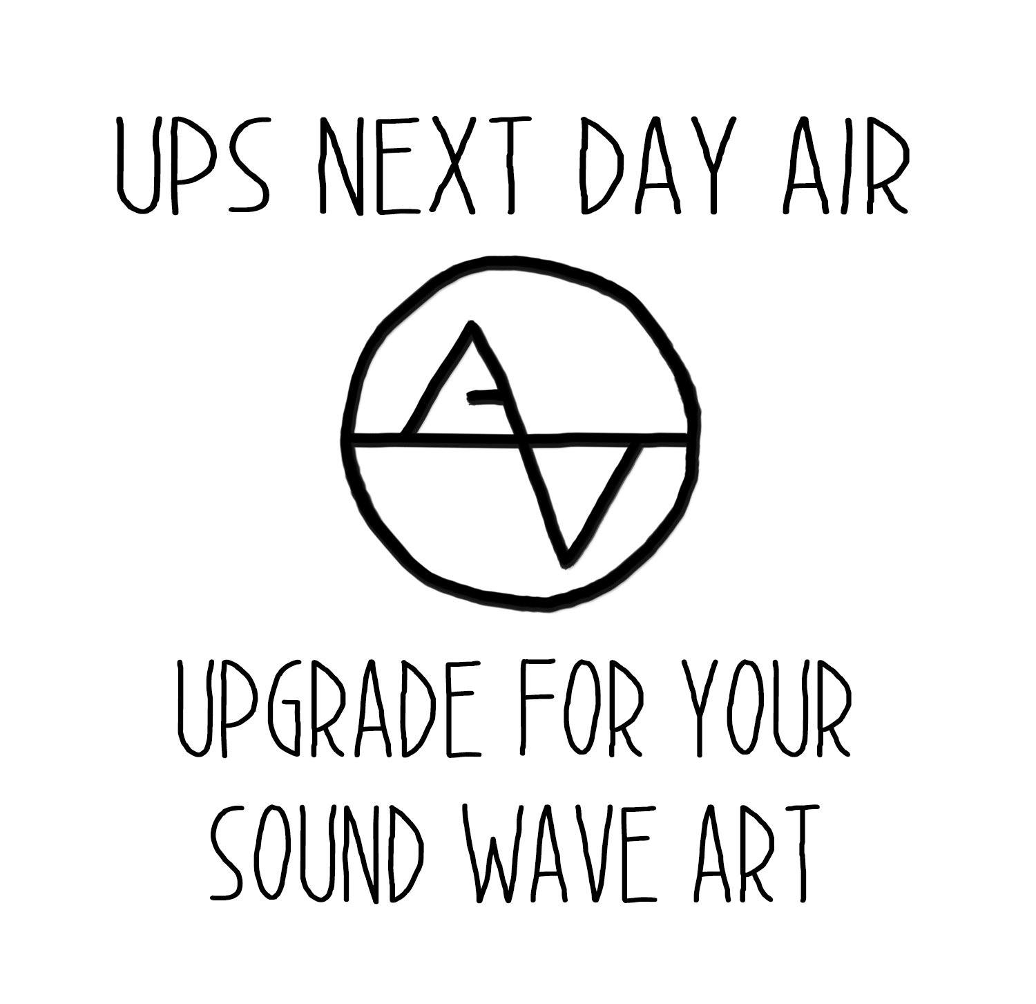 Upgrade Shipping to Next Day Air - Artsy Voiceprint