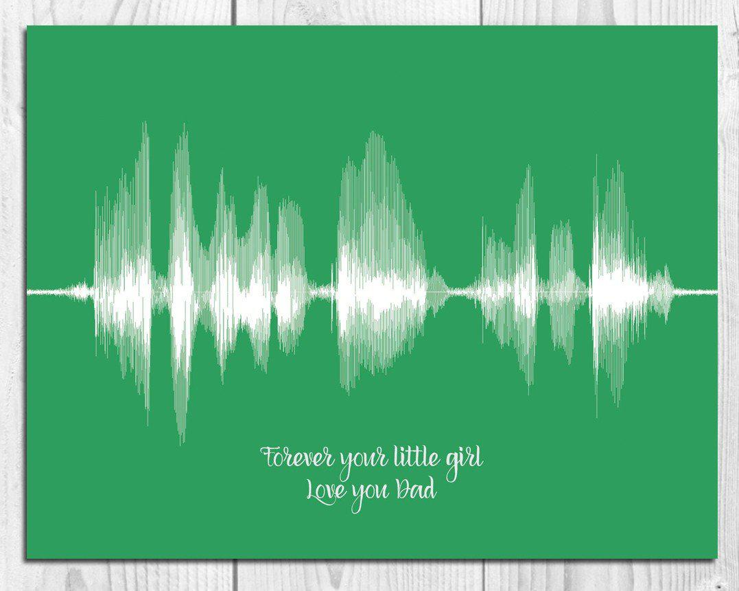 "Fathers Day Gift for Dad - ""Forever Your Little Girl"" from Daughter - Artsy Voiceprint"