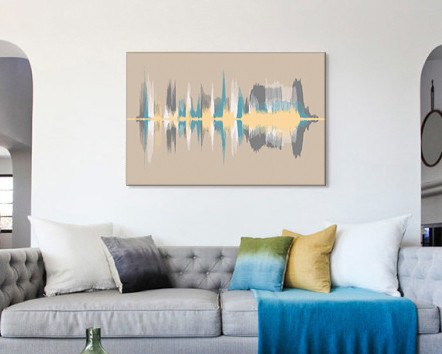 Sound Wave Art Canvas - Add Multiple Voice Recordings - Artsy Voiceprint