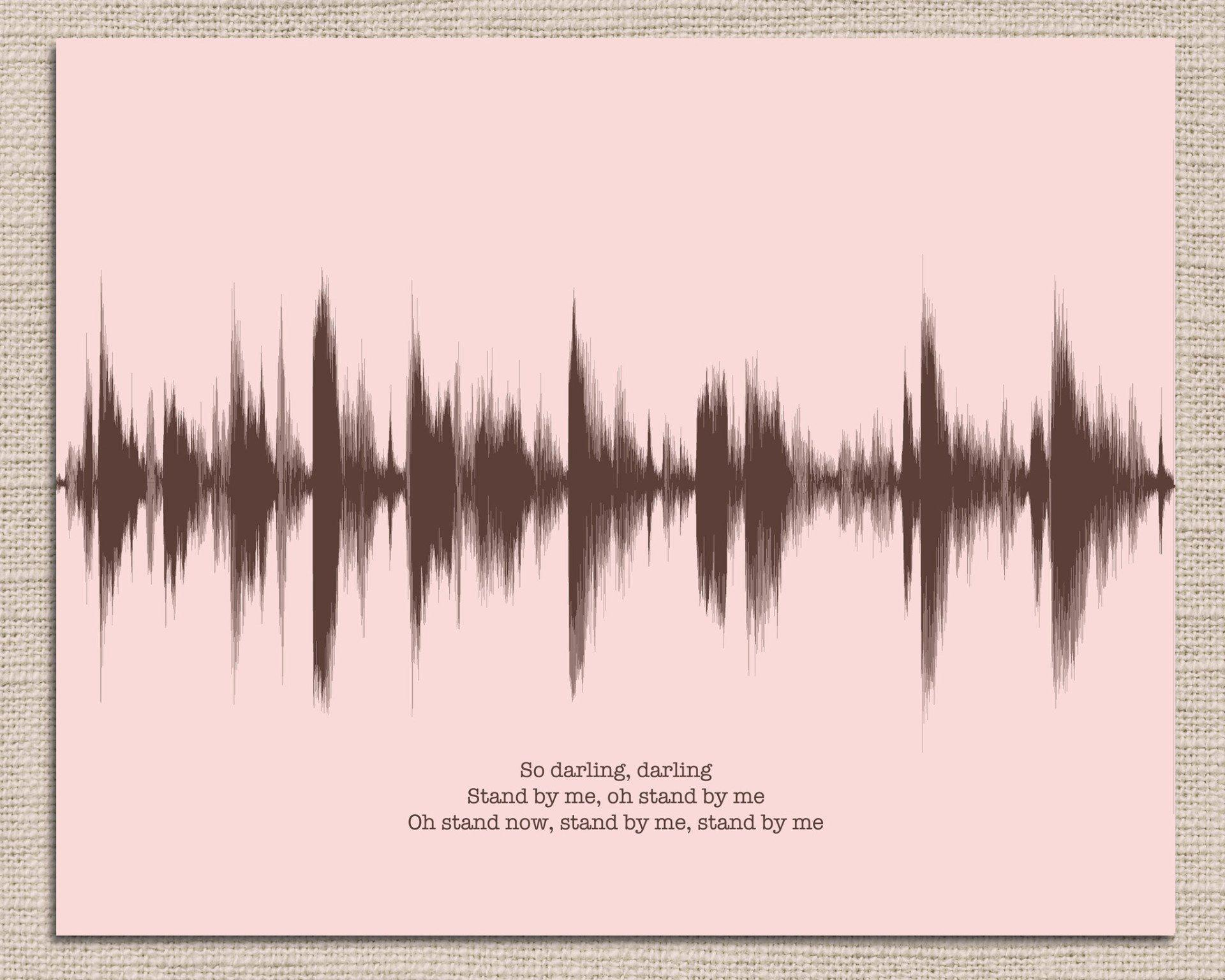 Custom Sound Wave Song Lyric Art - Favorite Song, Lyrics, Music, Ex. Stand By Me - Artsy Voiceprint