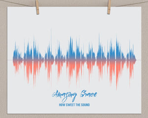 Custom Religious, Christian Art - Amazing Grace Song Print
