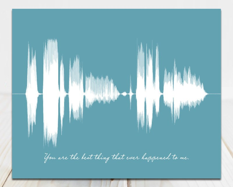 Custom Song Sound Wave Art, Your Voice Singing - You are the best thing - Artsy Voiceprint
