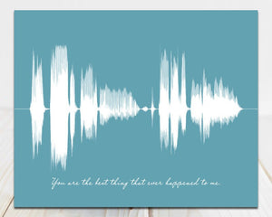 Custom Song Sound Wave Art, Your Voice Singing - You are the best thing