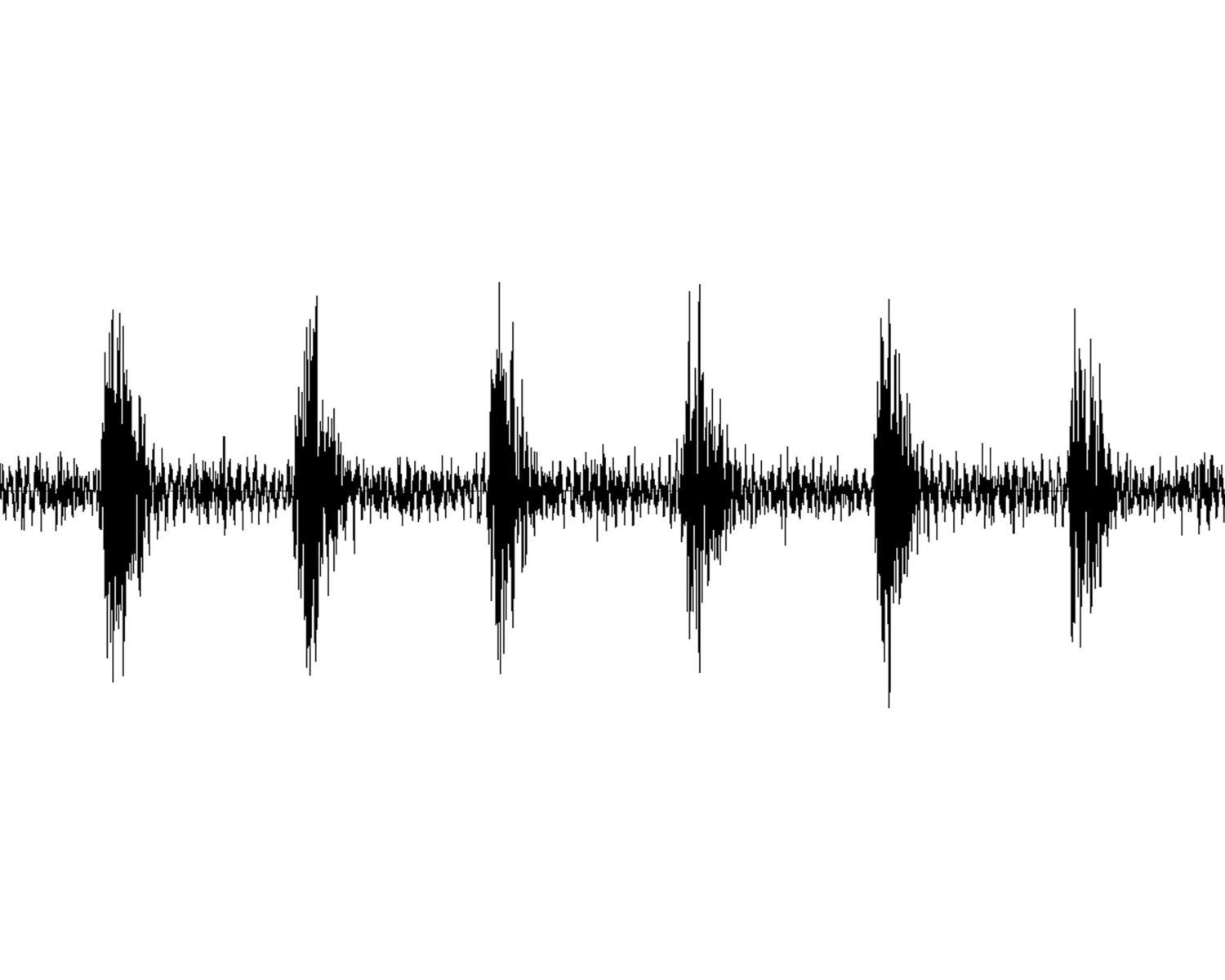 Tattoo Sound Wave Custom Art - Black & White Digital File - Artsy Voiceprint - 2