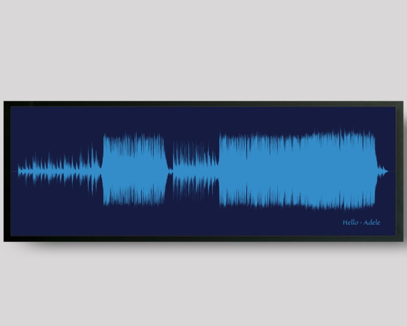 Wedding Song Print Custom Sound Wave Art, 1st Paper Anniversary Gift - Artsy Voiceprint