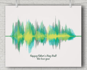 Voiceprint Gift for Dad - Multiple Messages From Wife, Kids