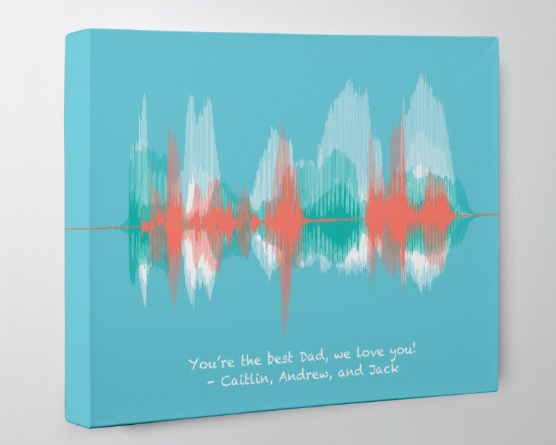 "Personalized ""I love you Dad"" from Kids, Wife - Canvas - Artsy Voiceprint"