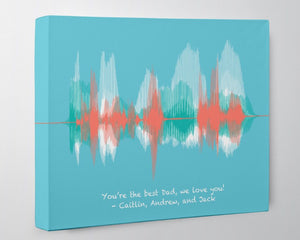 "Personalized ""I love you Dad"" from Kids, Wife - Canvas"