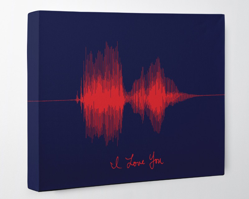 Custom Handwriting & Voice Art, Personalized Gift for Girlfriend on Canvas - Artsy Voiceprint