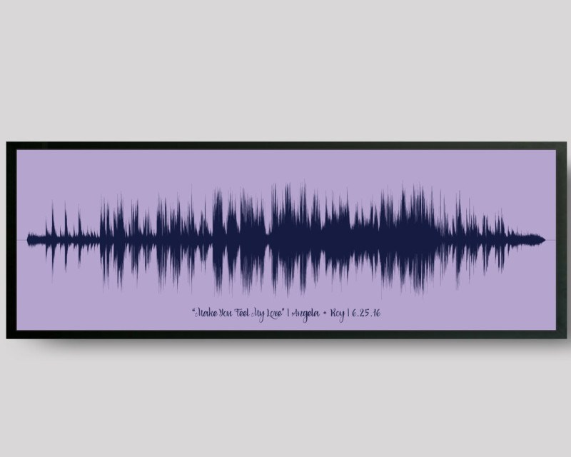 Wedding Song Sound Wave Print Custom Paper 1st Anniversary Gift