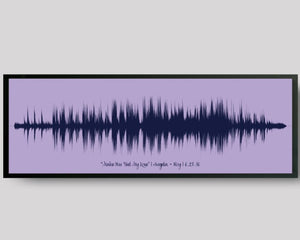 Wedding Song Print Custom Sound Wave Art, 1st Paper Anniversary Gift