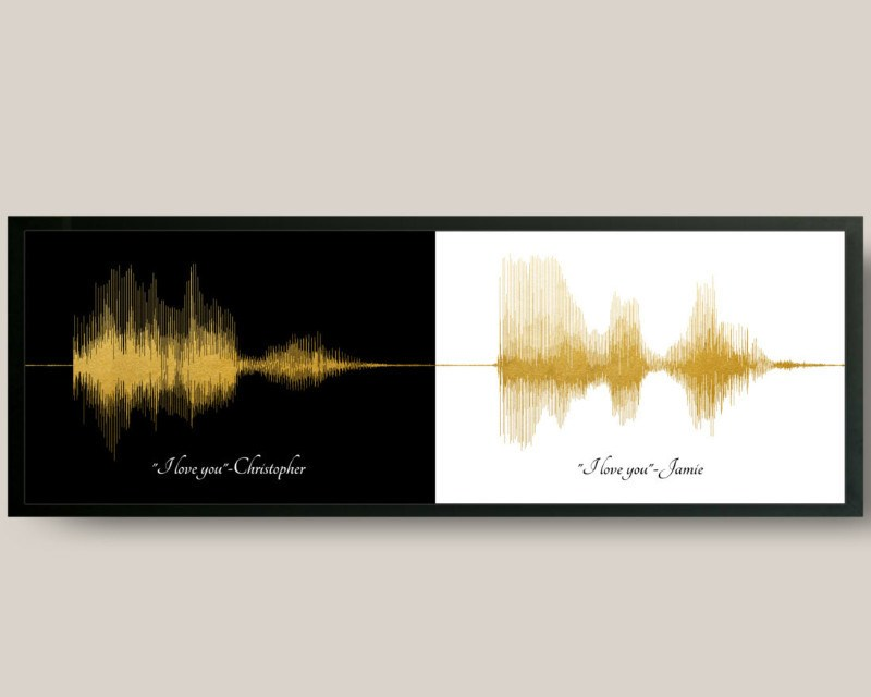 """I love you"" Voiceprint, First Anniversary Paper Gift for Him, for Her, Gifts For Couple - Artsy Voiceprint"