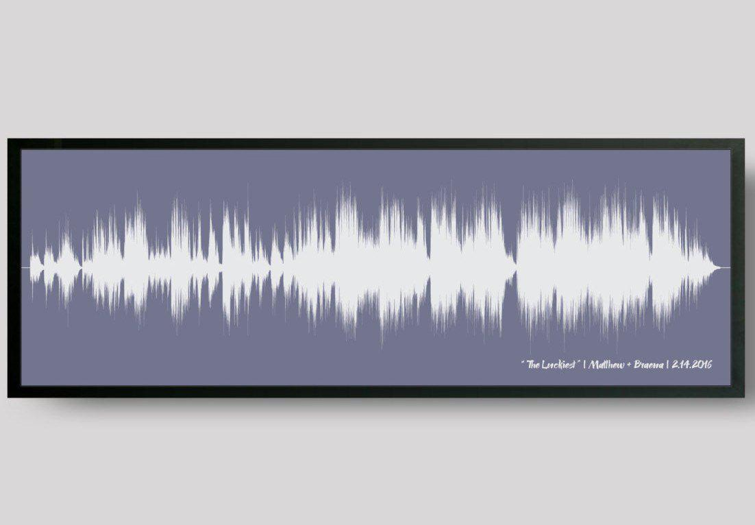First Anniversary Gift, First Dance, Wedding Song Print - Artsy Voiceprint