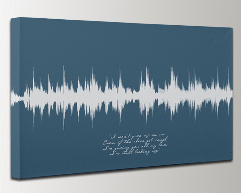 Song Print Art Sound Wave Lyric Gift For Him Her Husband Wife ...