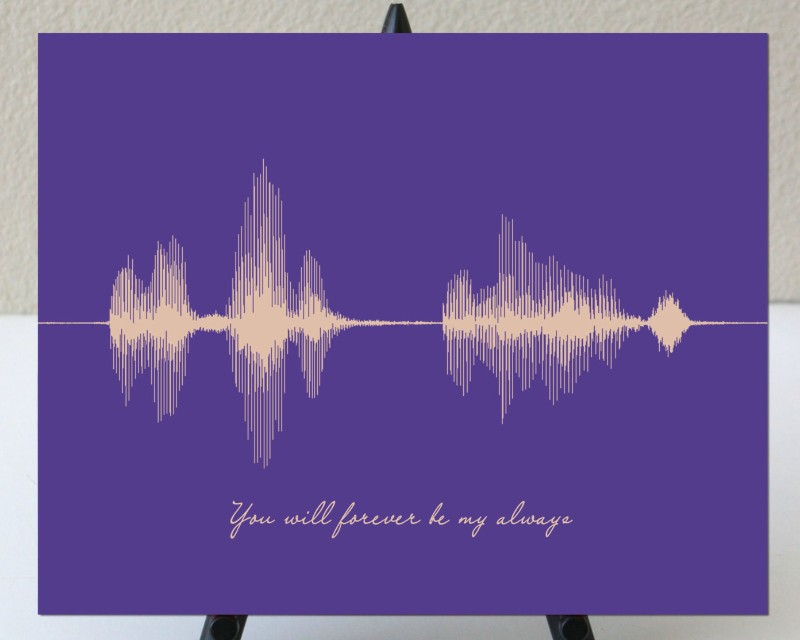 Sound Wave Soundwave First 1st Anniversary Art Print Forever Love Message Gift - Artsy Voiceprint