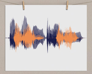 Soundwave Art Paper Print - Personalized Voiceprint Gift
