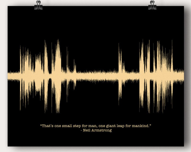 Neil Armstrong Apollo 11 13 Moon Landing Quote - Artsy Voiceprint