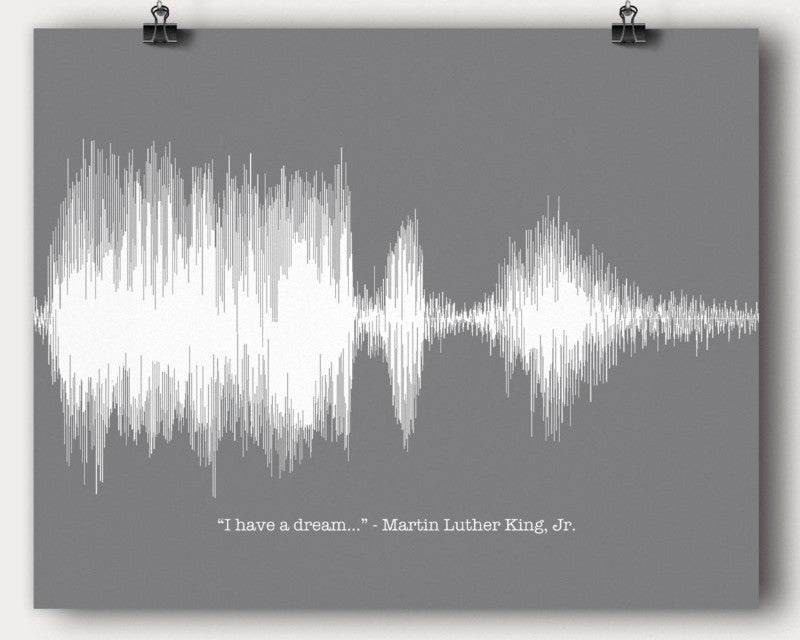 "Martin Luther King MLK Speech ""I Have A Dream"" Quote - Artsy Voiceprint"