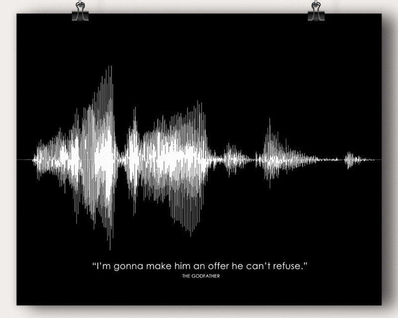 The Godfather Movie Sound Wave Man Cave Quote Wall Print Art Lawyer Attorney Gift - Artsy Voiceprint - 1