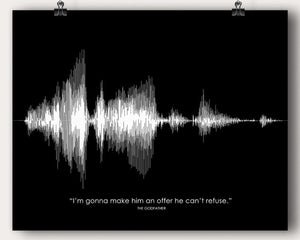 The Godfather Movie Quote - Artsy Voiceprint