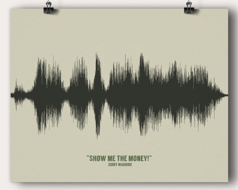 "Jerry Maguire Movie ""Sow me the money!"" Quote - Artsy Voiceprint"
