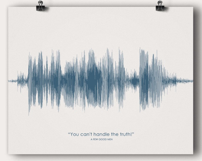 "A Few Good Men ""You can't handle the truth!"" Jack Nicholson Movie Quote Sound Wave Wall Art Soundwave Poster Gift - Artsy Voiceprint"