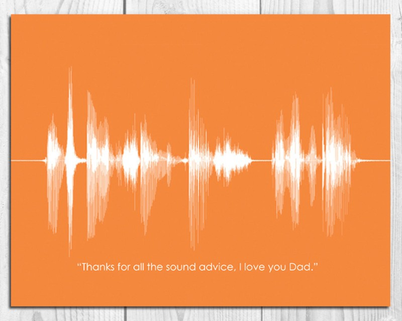 Thank You Gift Sound Wave Wall Art Print - Personalized - Artsy Voiceprint