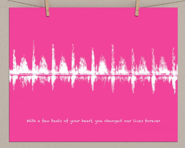 Ultrasound Baby Heartbeat, Paper Print - Artsy Voiceprint