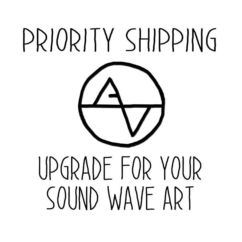 Upgrade Shipping to Priority Mail - Artsy Voiceprint