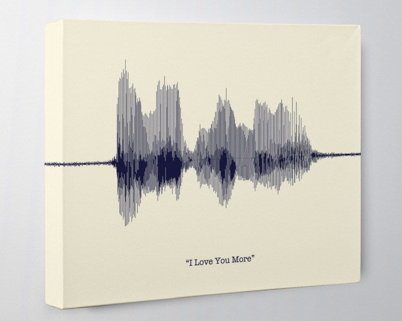 I Love You More, Anniversary Gift for Her, for Him, Cotton Canvas - Artsy Voiceprint
