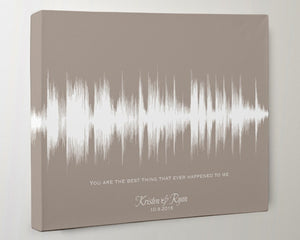 Wedding Song Sound Wave Canvas - You are the best thing