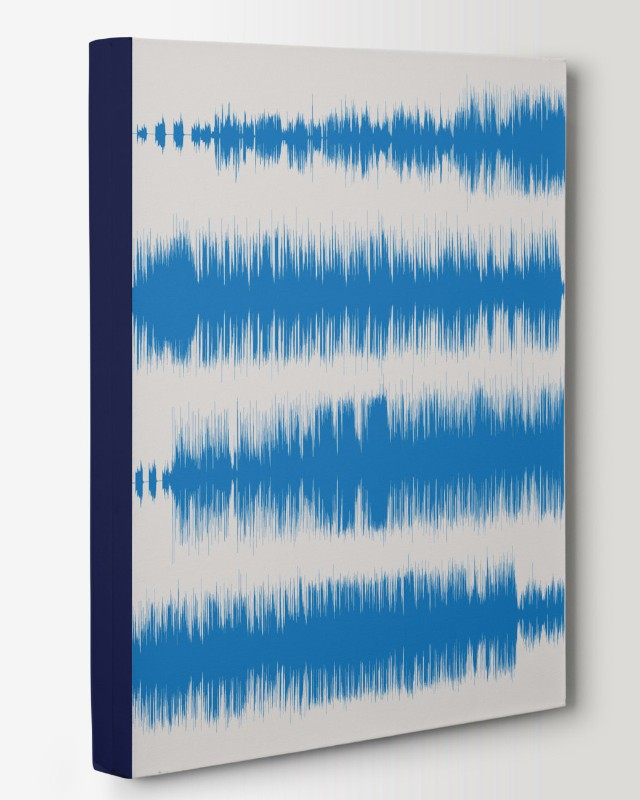 Song Canvas, Multi-line Sound Wave - Musician, DJ, For Music Room - Artsy Voiceprint