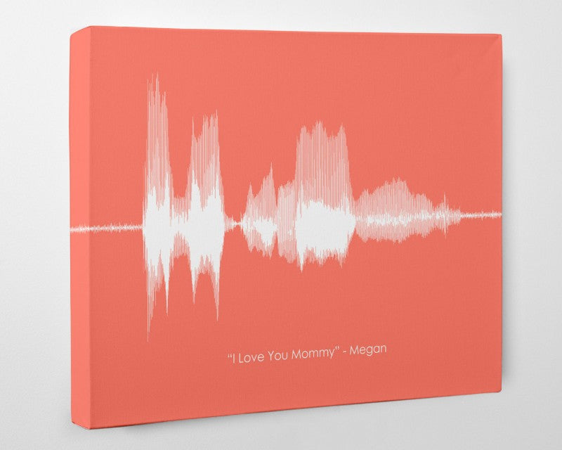 Personalized Voiceprint Sound Wave Art for Mom or Dad, Unique Gift Mothers Day - Artsy Voiceprint