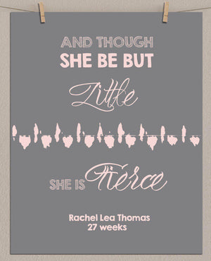Personalized Baby's Heartbeat Shakespeare Quote