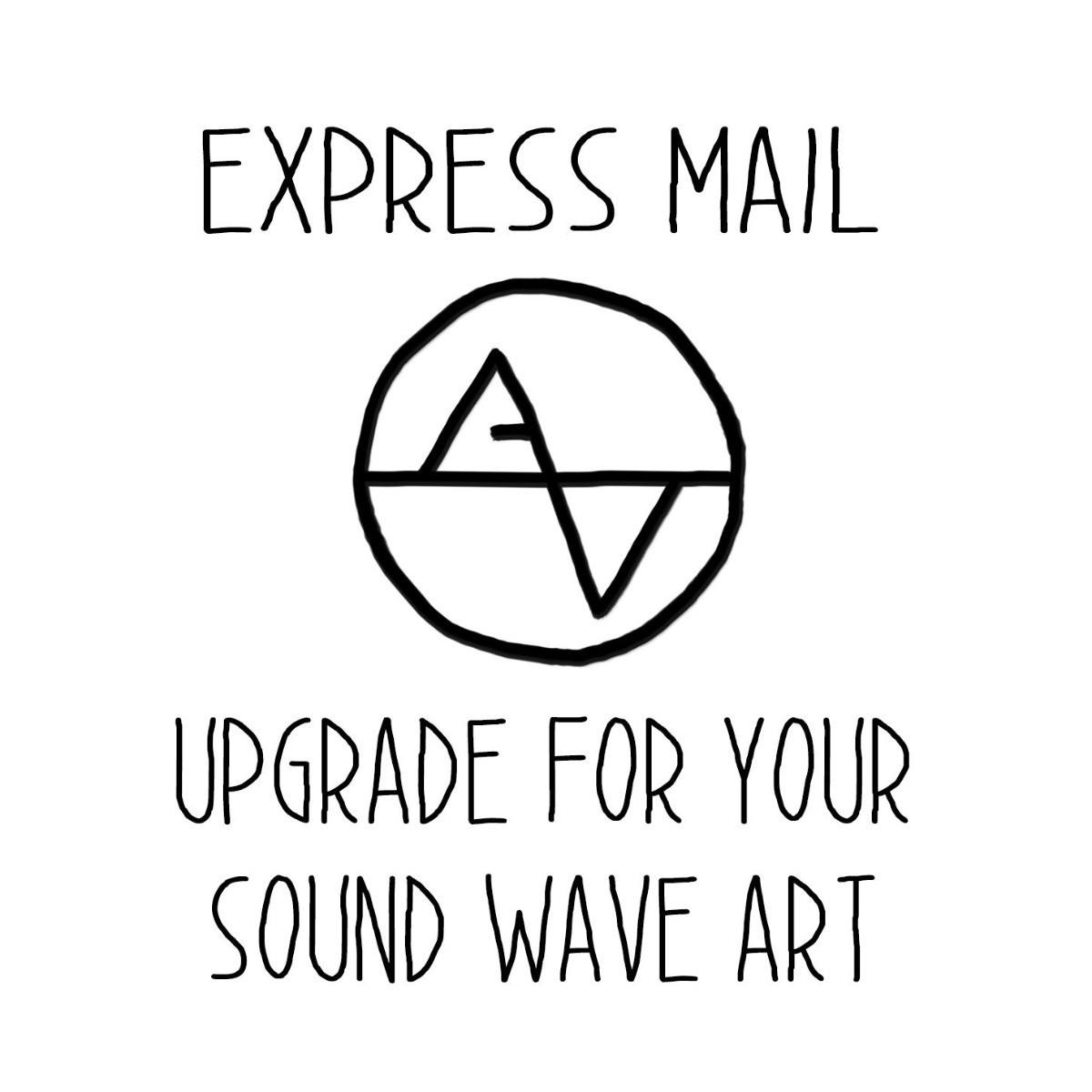 Upgrade Shipping to Priority Express Mail - Artsy Voiceprint