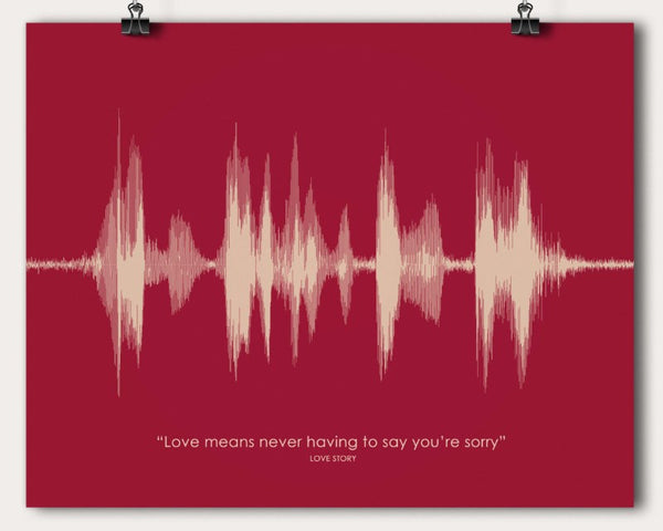 movie quote sound wave wall art print poster unique