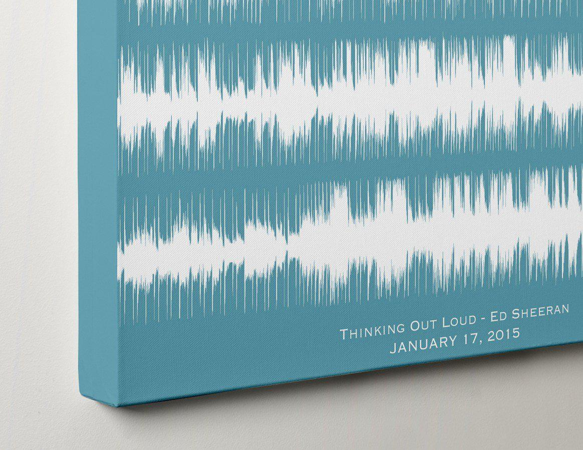 Custom Wedding Song or First Dance Print on Canvas, Gift for Couple - Artsy Voiceprint