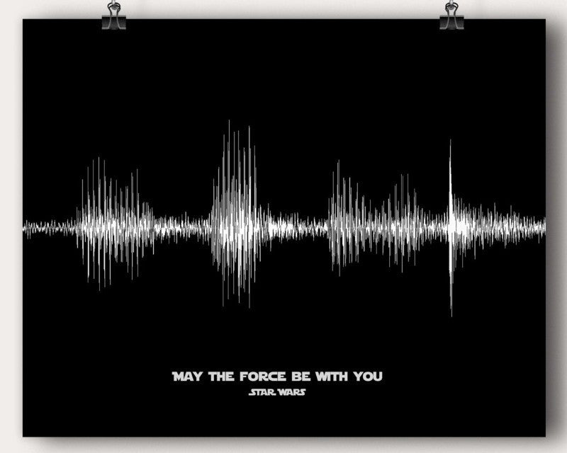 Star Wars Starwars Movie Quote Soundwave May The Force Be With You Man Cave Wall Art - Artsy Voiceprint